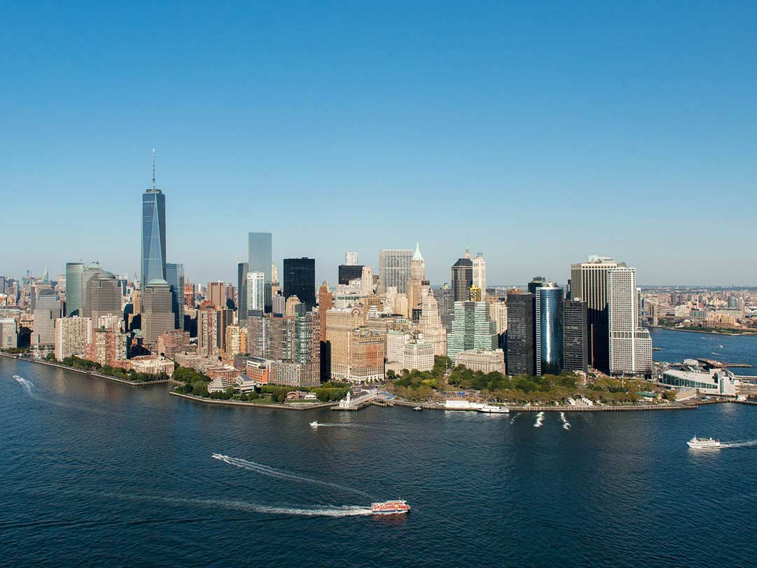 Helikopter-Flug Aussicht aufLower Manhattan New York