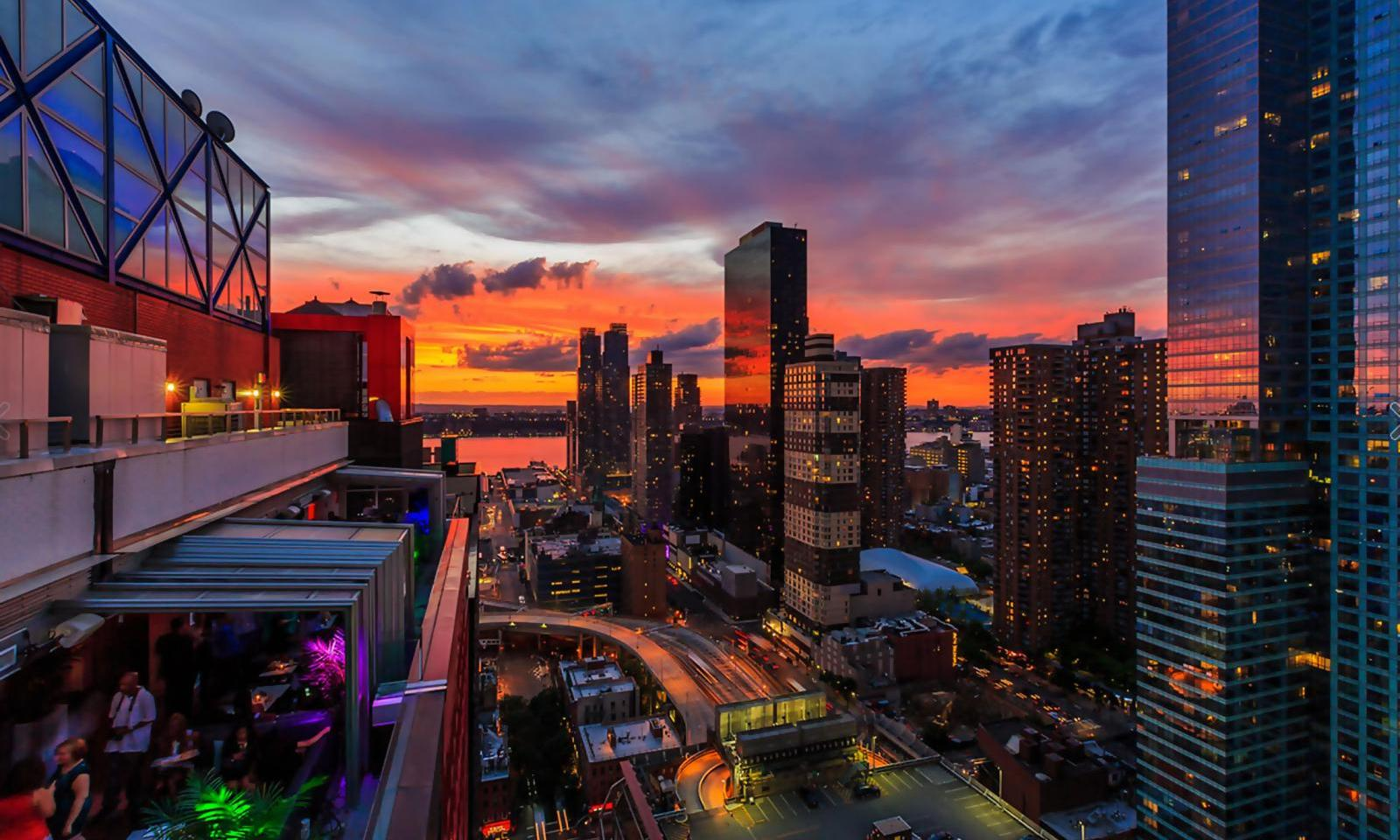 Sky Room Bar New York Manhattans H 246 Chste Dachterasse