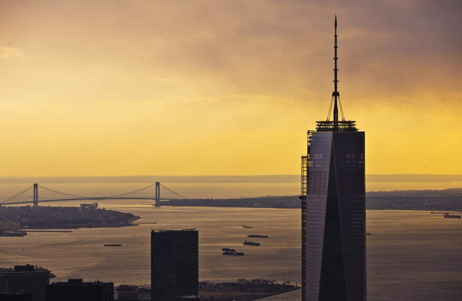 One World Trade Center by Anthony Quintano - Sunset