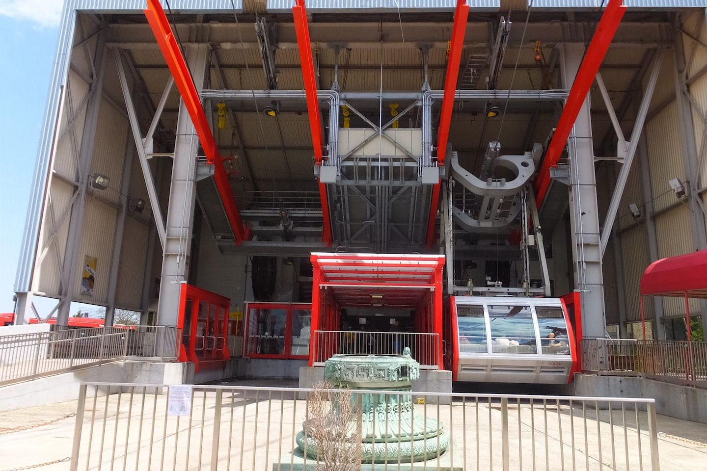 Roosevelt Island Seilbahn An- und Abfahrtspunkt in New York