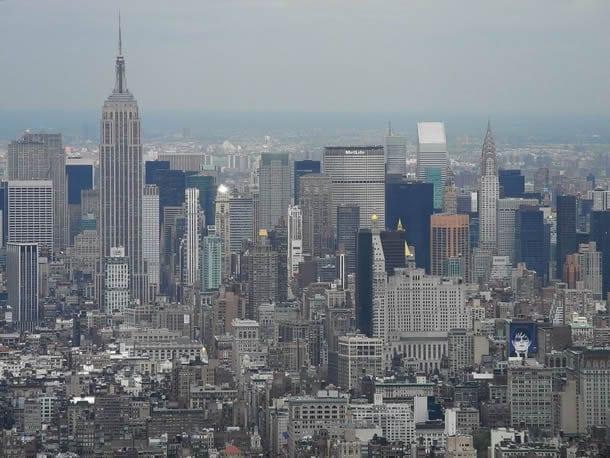 Blick nach Midtown Manhattan