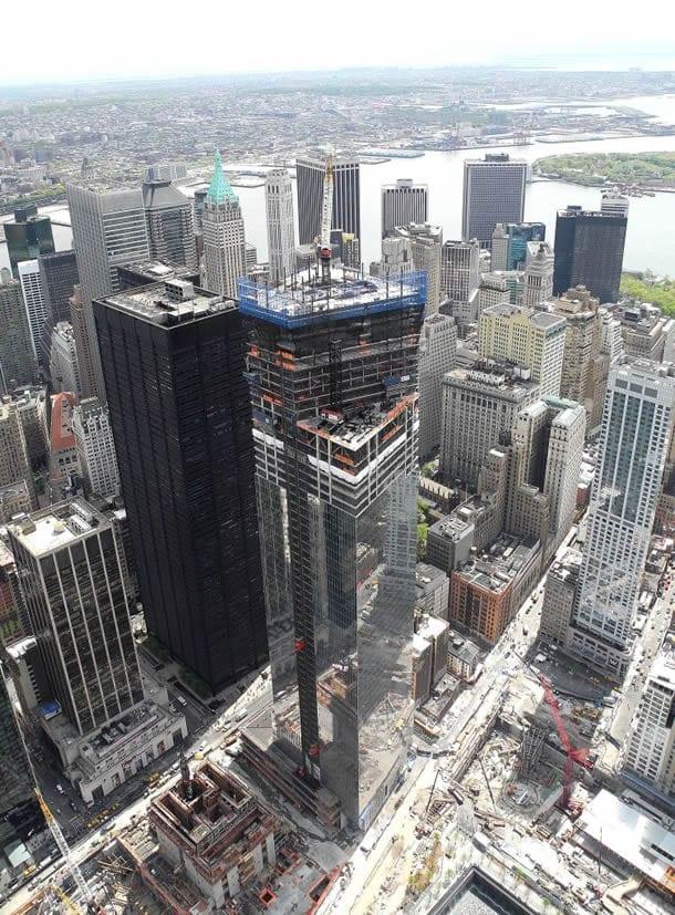 Four World Trade Center under construction