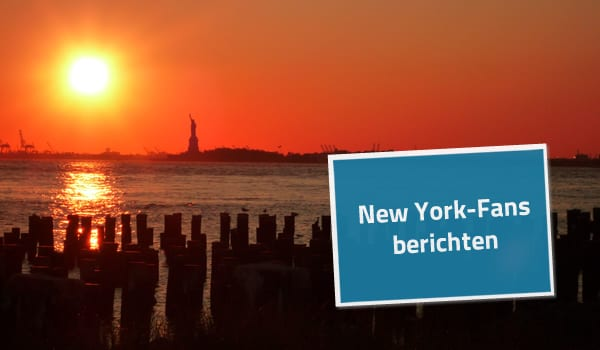 Heiratsantrag in New York bei Sonnenuntergang
