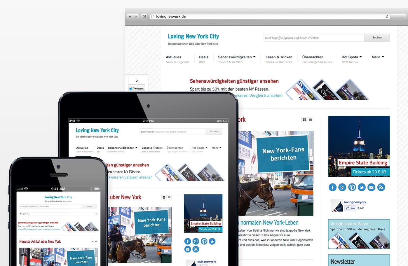 """New York Blog """"lovingnewyork"""" für Smartphones und iPad"""