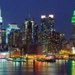 new york city skyline por la noche