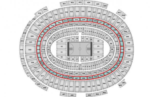 New York Knicks mappa stadio