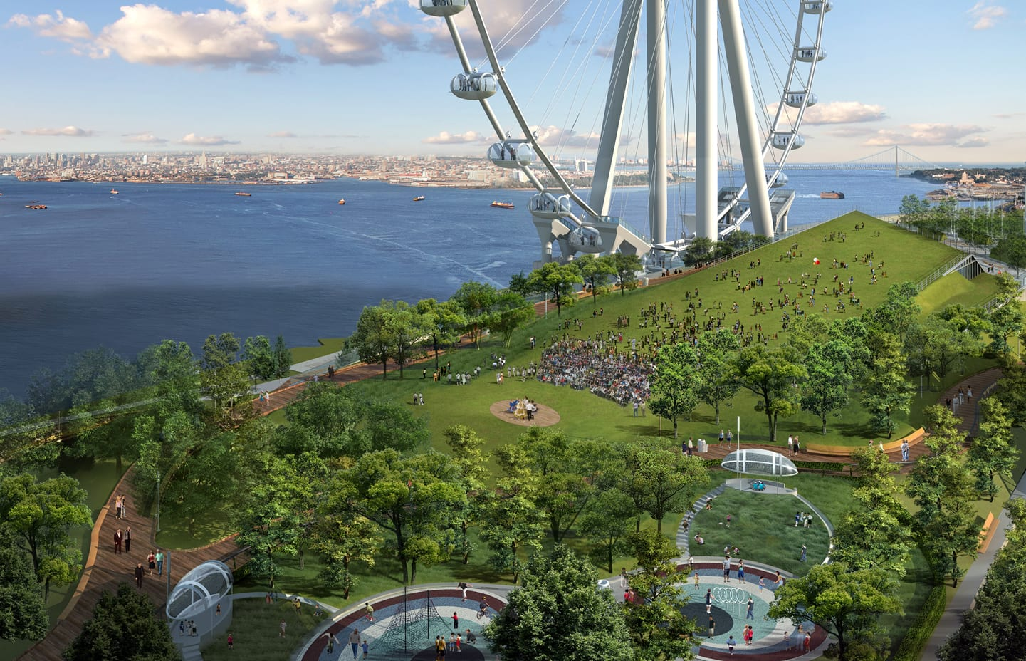 New York Wheel - Looking at Green Roof
