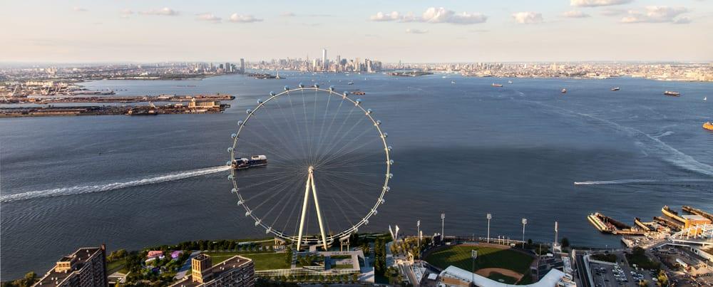 Das New York Wheel-Riesenrad auf Staten Island