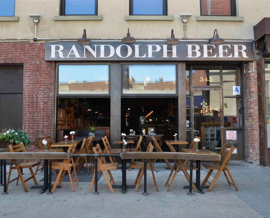 Randolph Beer Outside