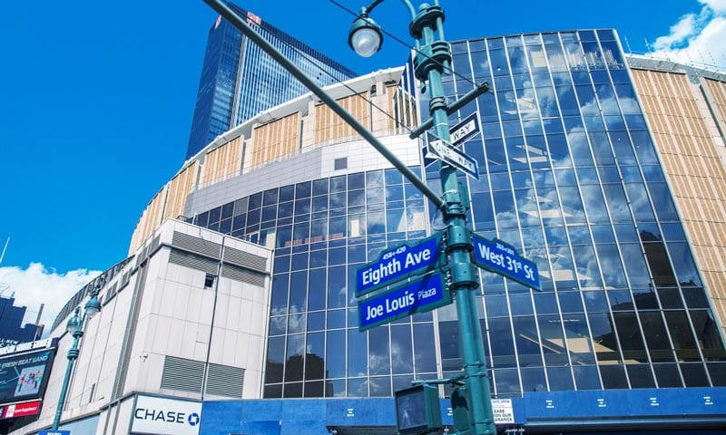 Madison Square Garden dall'esterno - concerti a new york