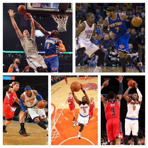 Collage diverse New York Knicks Basketballspieler