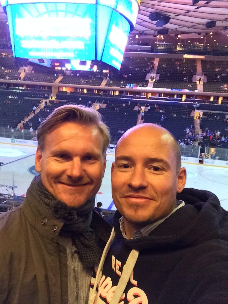 Tino und Steffen im Madison Square Garden
