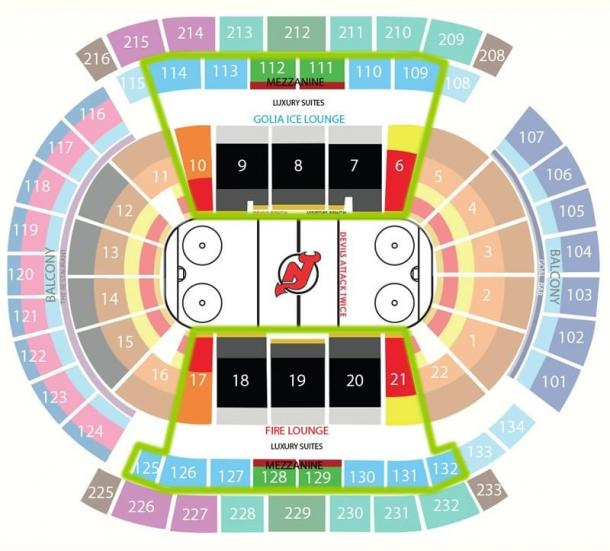 New Jersey Devils Sitze