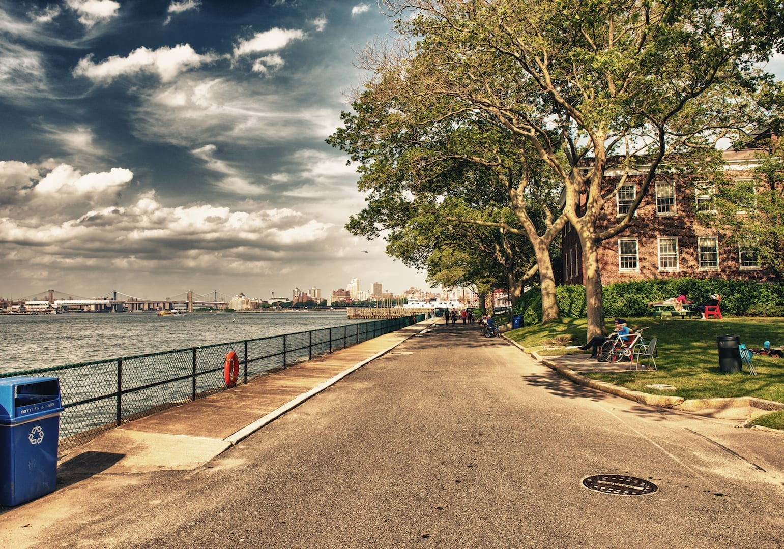 Governor's Island sea view in summer - New York