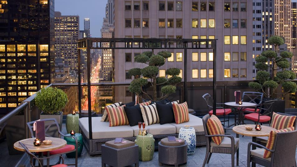 Rooftop-Bar Salon de Ning im Hotel The Peninsula New York