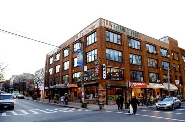 Die Mini Mall in Williamsburg New York von aussen