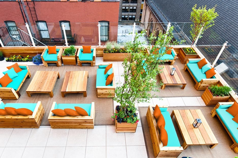 haven rooftop bar in new york von oben