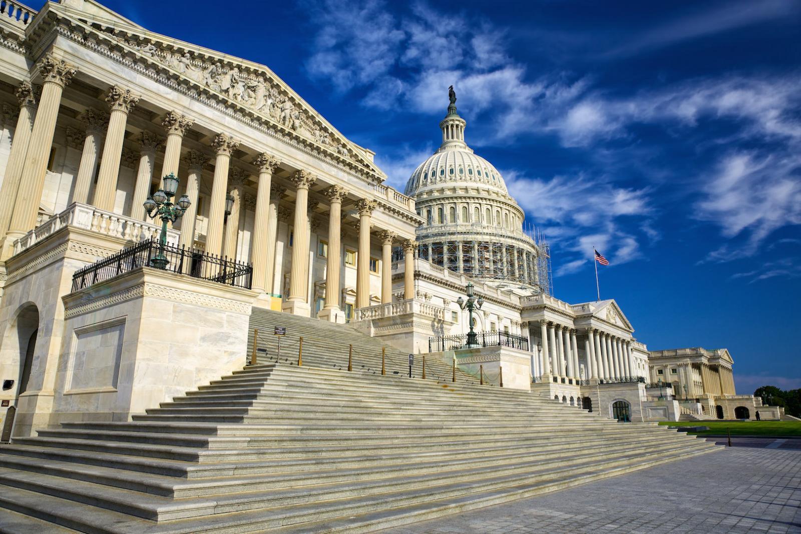 Die östliche Fassade des Capitols in Washington