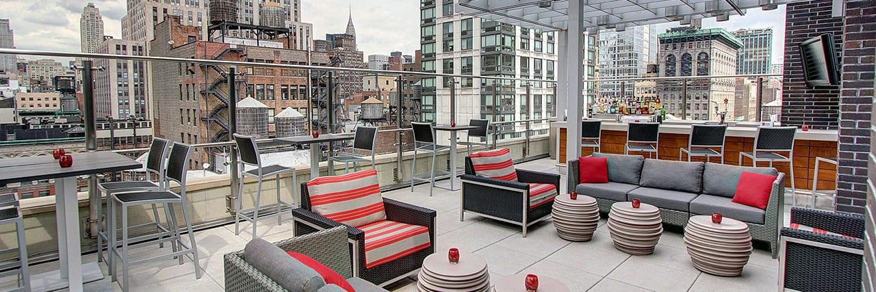 Up On 20 Rooftop-Bar im Hyatt Herald Square