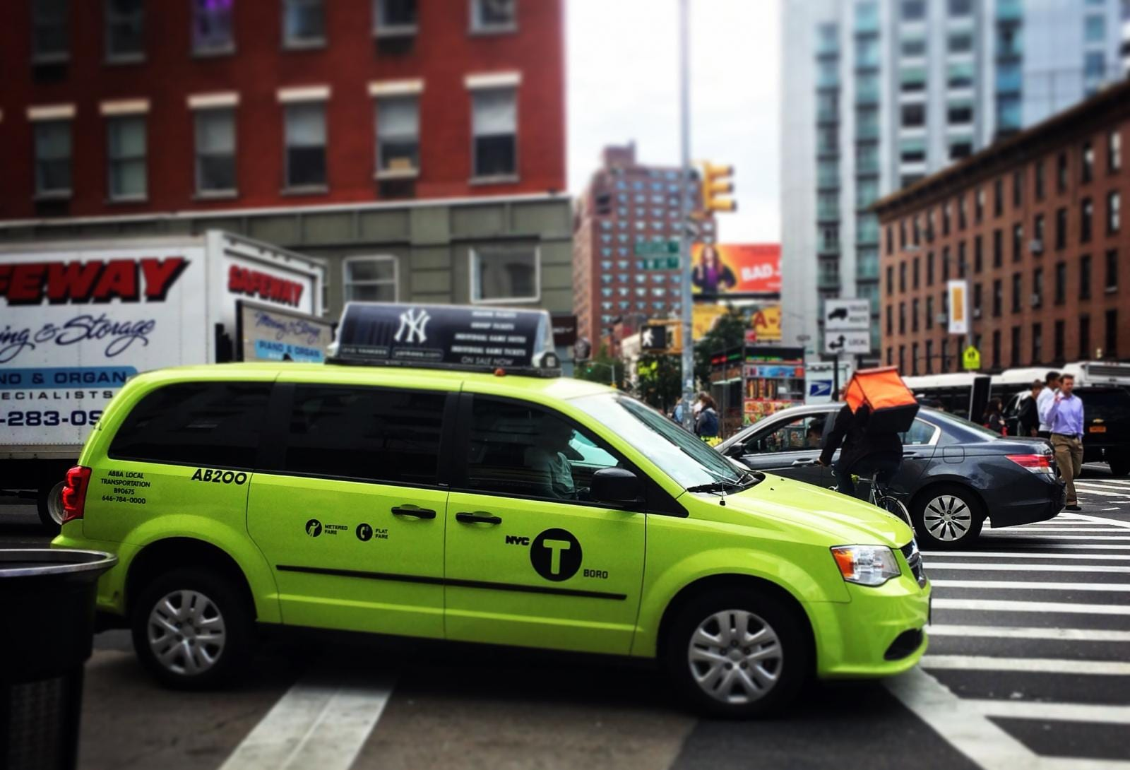 Grüne Taxis in New York: Boro Cabs