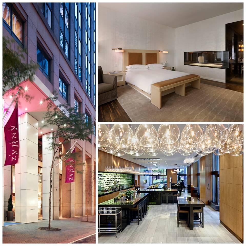 Collage von Aufnahmen des Hotels Andaz Wall Street