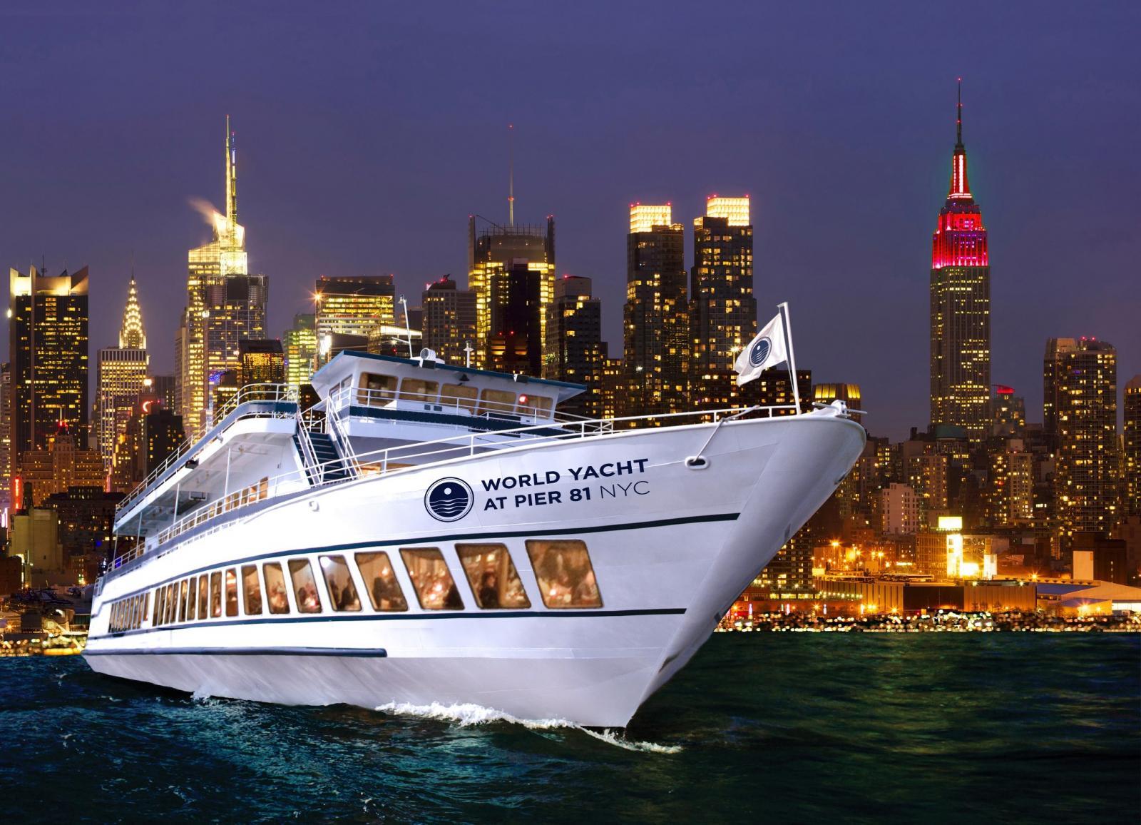 Bootstour mit Abendessen in New York mit World Yacht