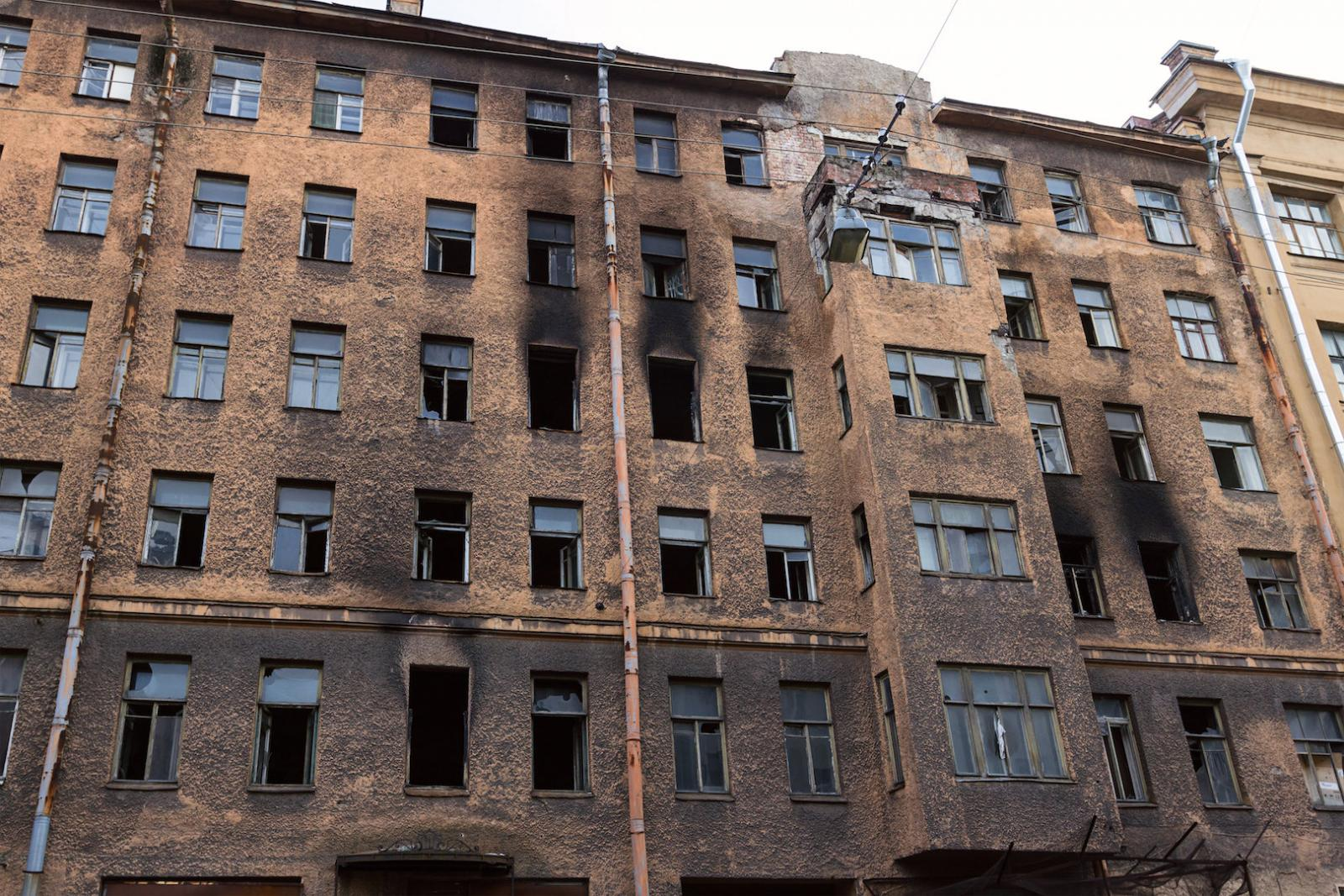 Abgebrannte Häuser aus alten Zeiten