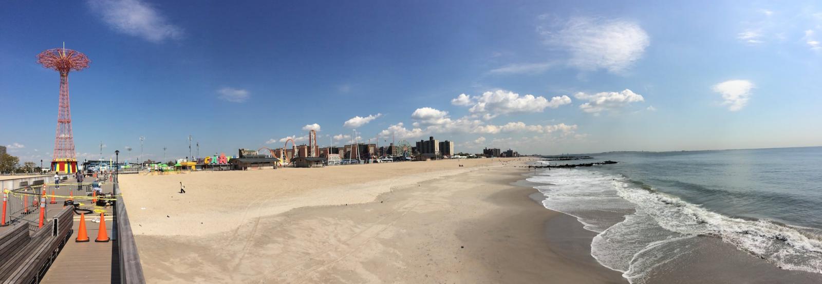 Coney Island vom Meer aus