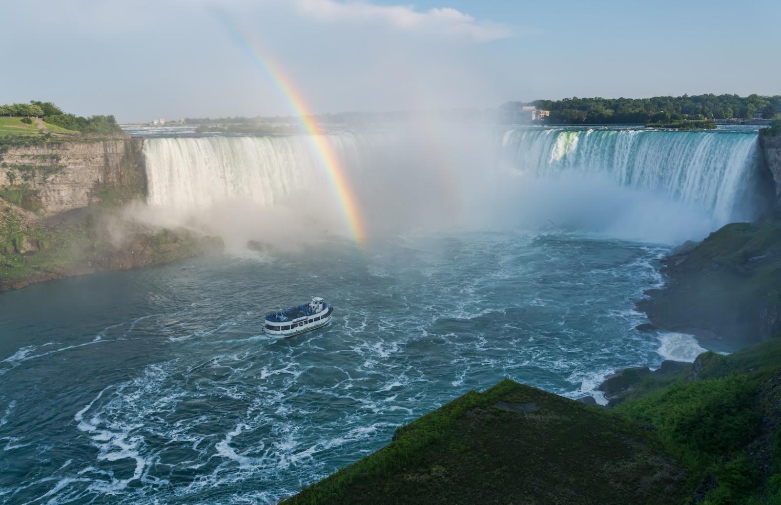 Regenbogen an den Niagara Fällen