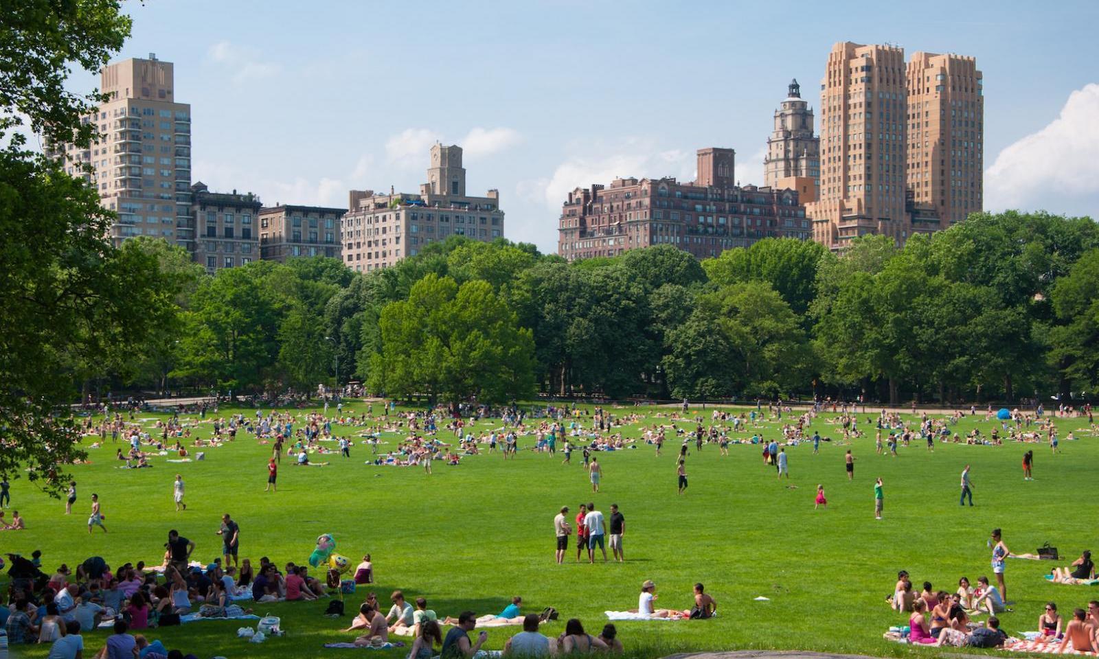 Central Park Sommer Boot Fahren im Central Park