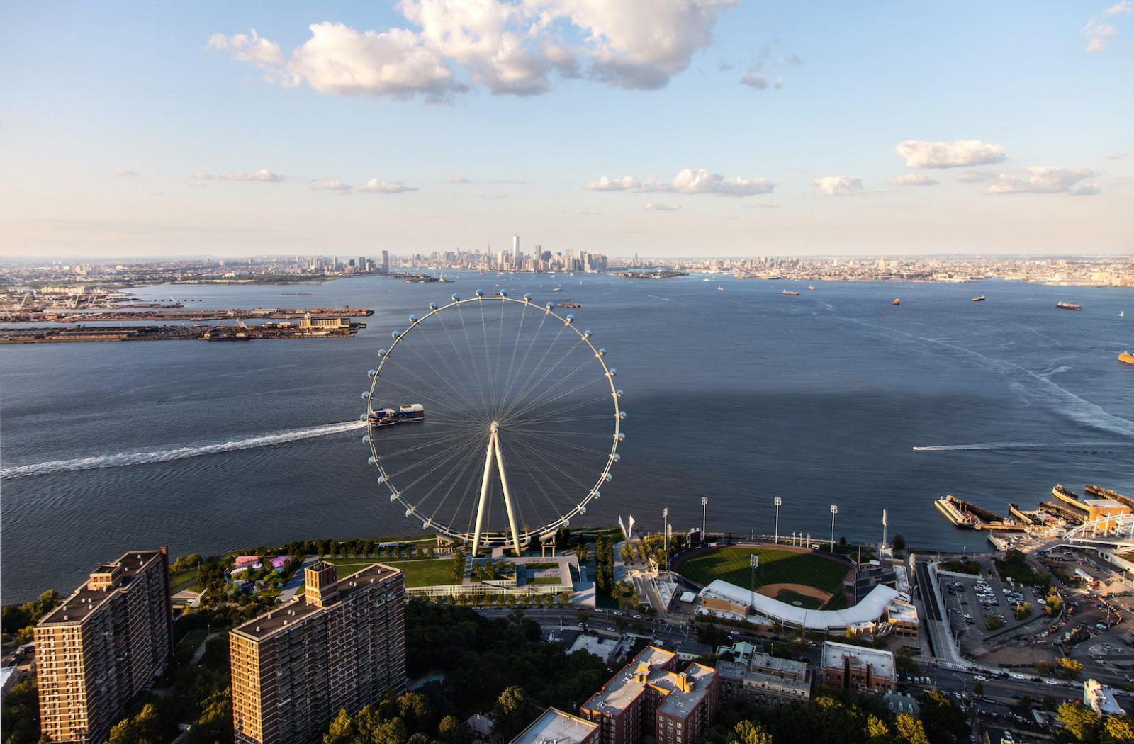 Das geplante New York Wheel auf Staten Island