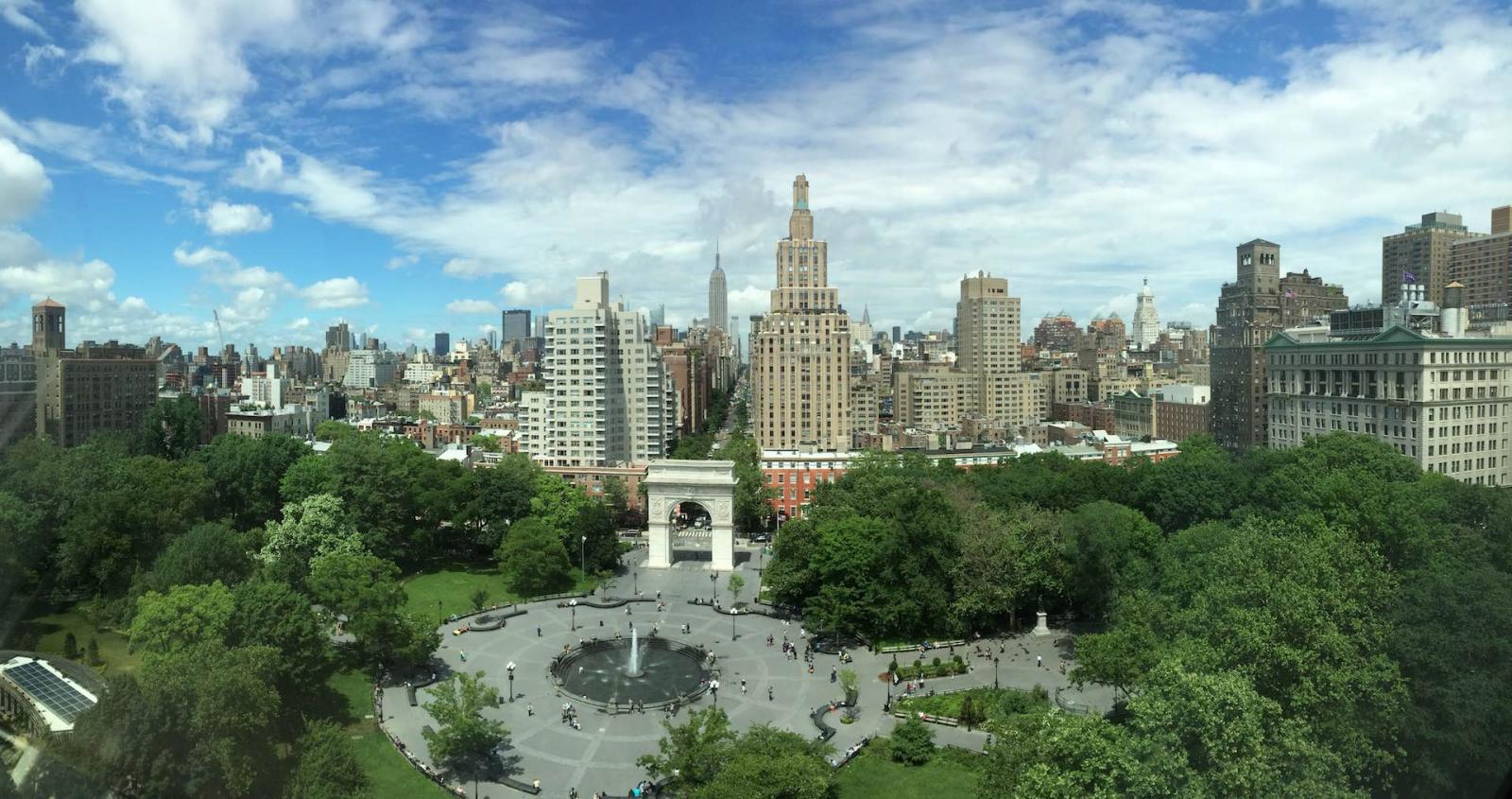 Der Washington Square Park In New York City