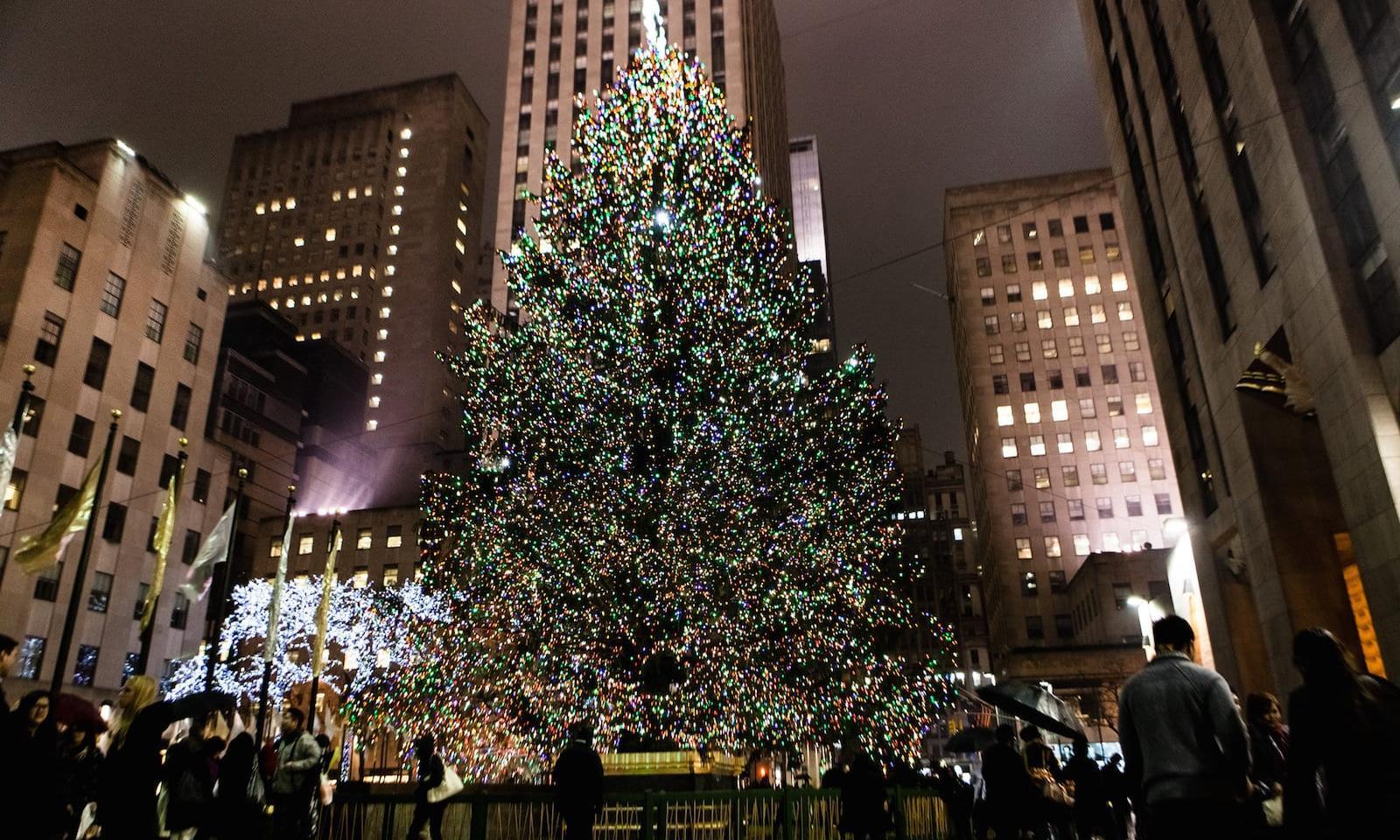 New York Rockefeller Center Weihnachten