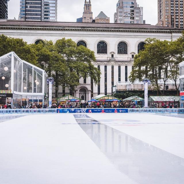 Eisbahnen zum Schlittschuhlaufen in New York