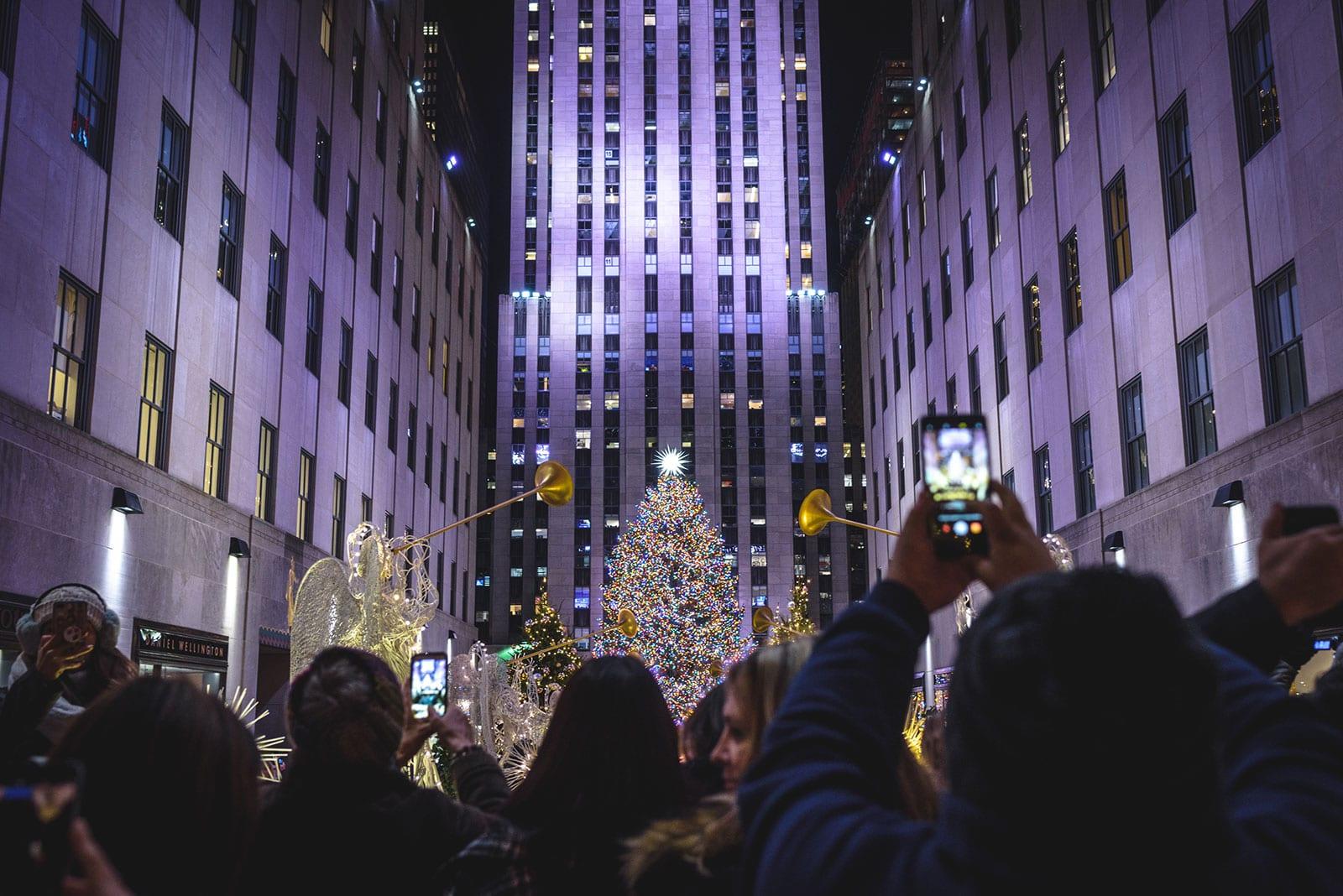 Weihnachtsbaum am rockefeller center in new york