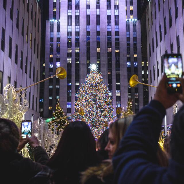 Der Weihnachtsbaum am Rockefeller Center