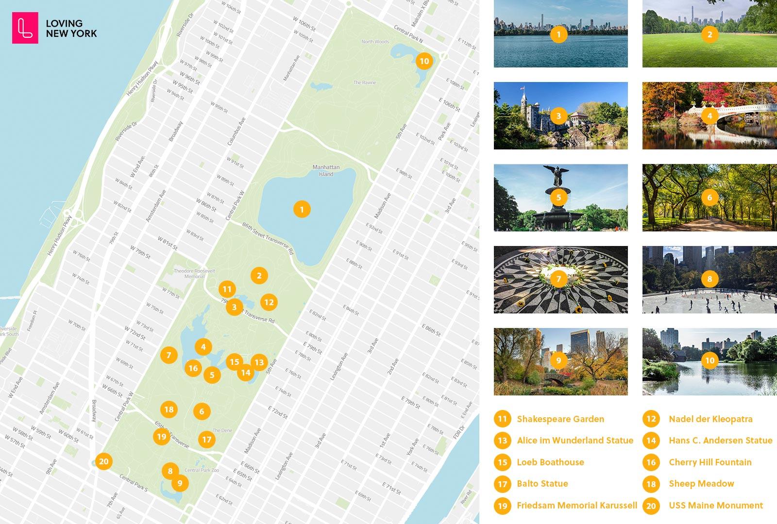 Die Besten Sehenswurdigkeiten Im Central Park New York 2020