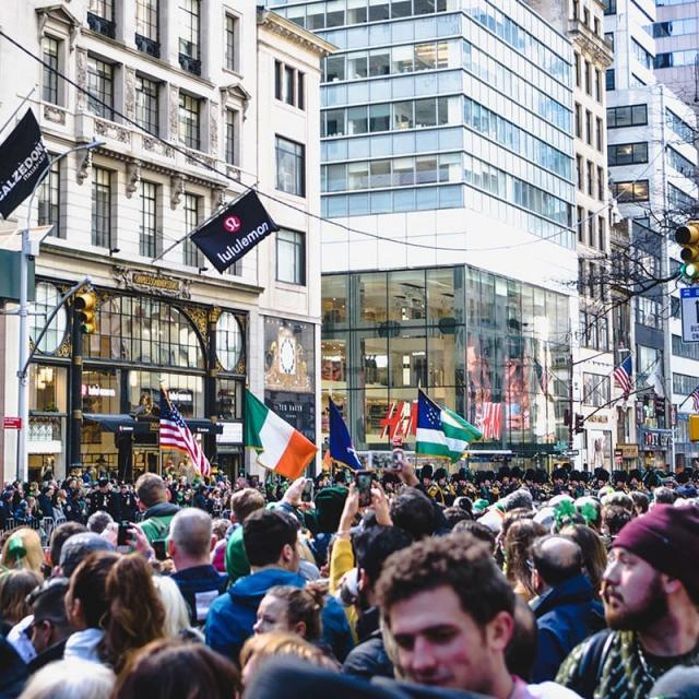 Die St. Patricks Day Parade in New York