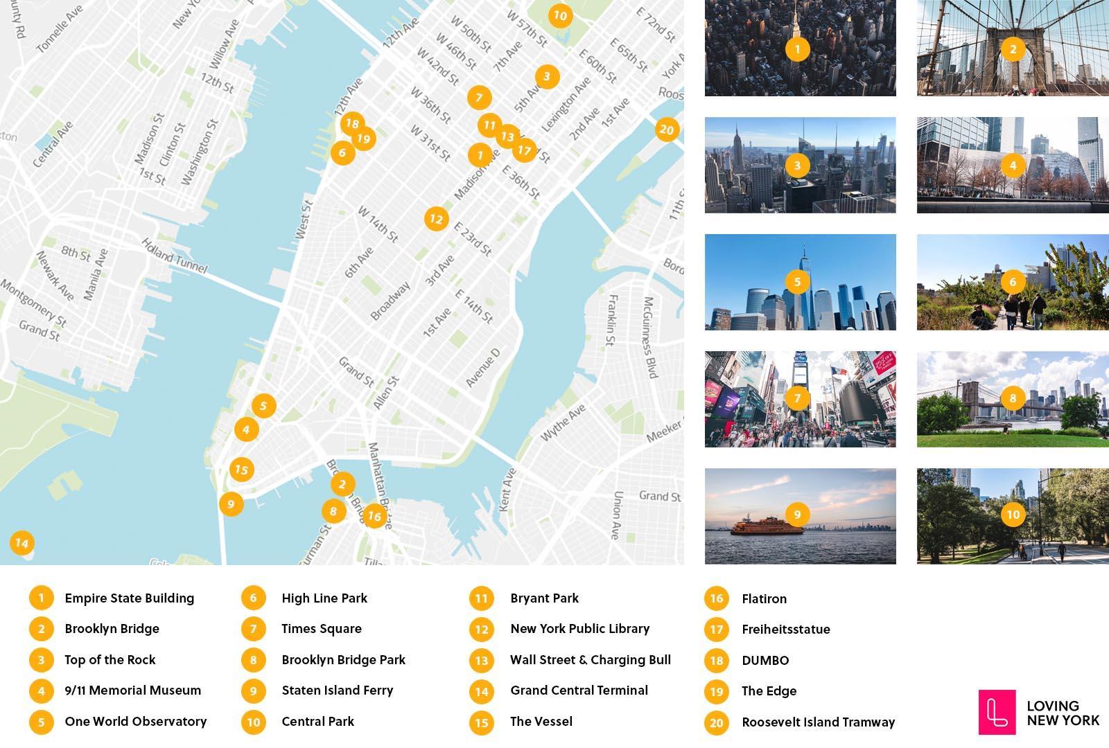 Amerika Karte New York.Die 23 Besten Sehenswürdigkeiten In New York 2019 Inkl Video