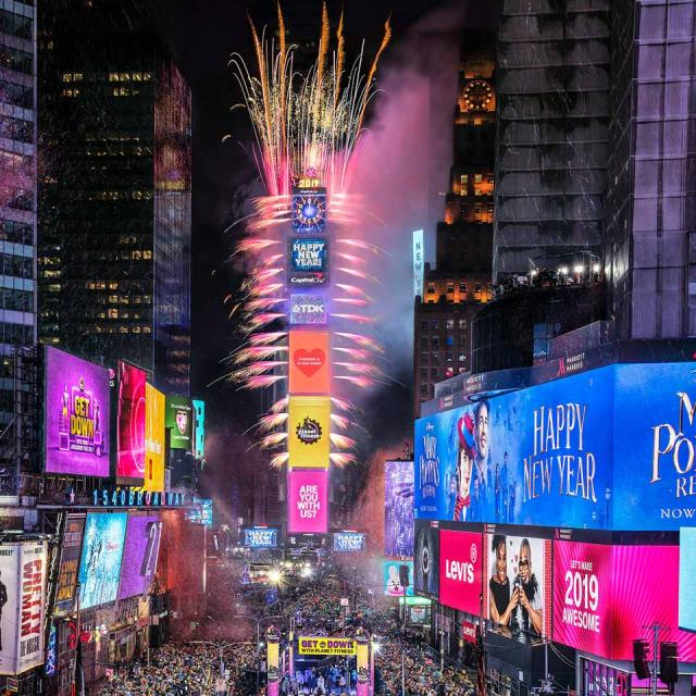 Silvester Ball Drop am Times Square