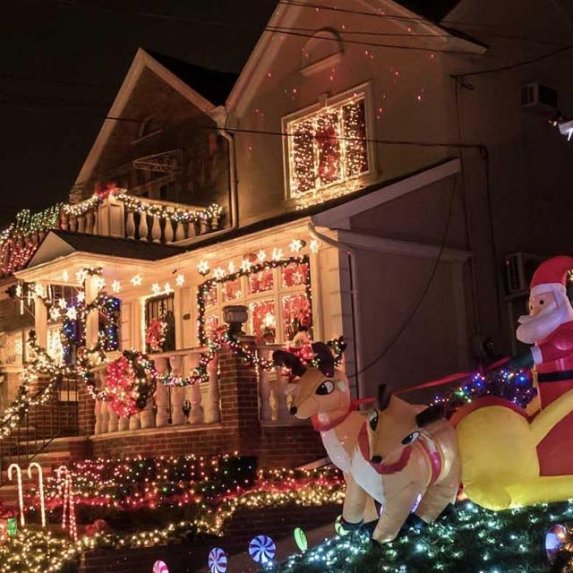Weihnachtsbeleuchtung in New York
