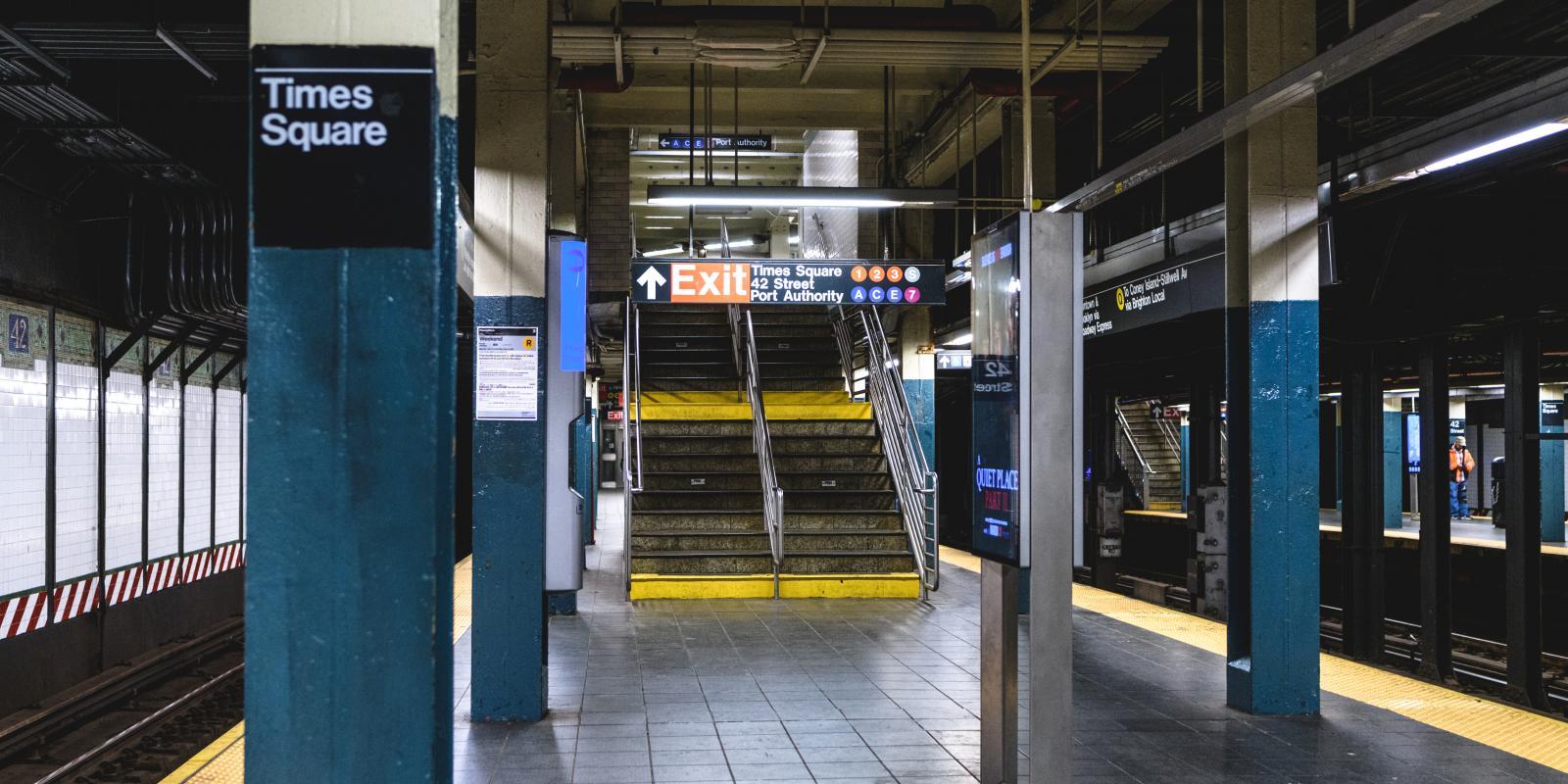 Subway Stations during Corona Virus